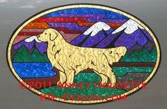 "Golden Retriever ""Colorado"" XL Oval Magnet"
