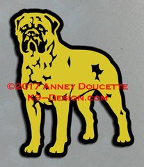 Bullmastiff Stand Front Magnet