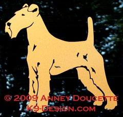 Irish Terrier Standing Decal