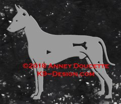 Xoloitzcuintli Standing Decal - Choose Color