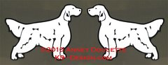 English Setter Standing Magnet - Choose Color