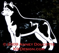 Siberian Husky Stacked Decal