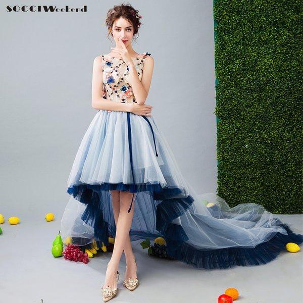 Wholesale SOCCI WEEKEND 2017 Asymmetrical Prom Dresses short front ...
