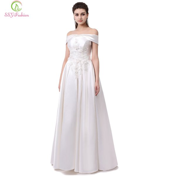 Wholesale SSYFashion New Banquet Simple Evening Dress The Bride ...