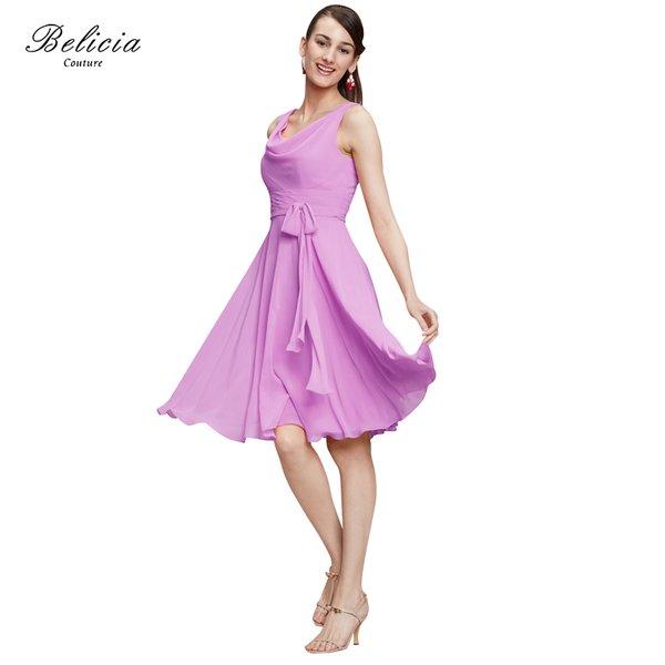 Wholesale Belicia Couture Cocktail Dresses Chiffon Bow Belt Elegant ...