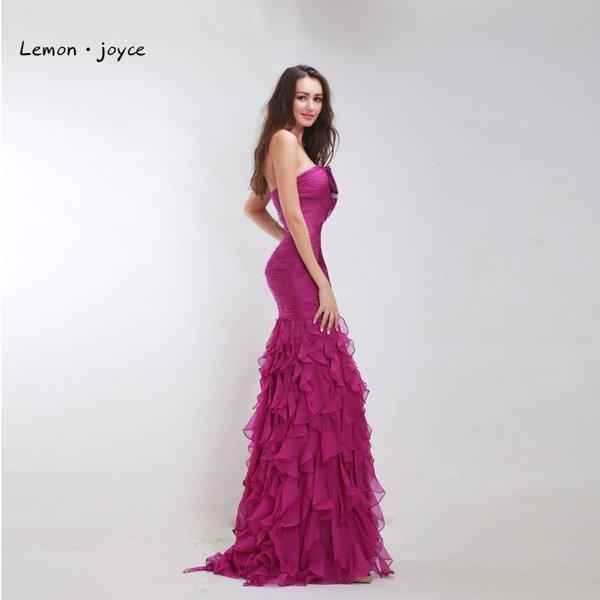 Wholesale Elegant Prom Dresses Plus Size 2017 Strapless Off the ...