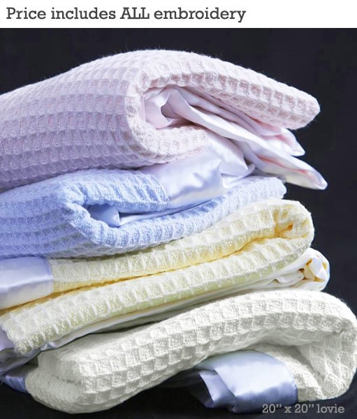 Luxury 100 Cotton Thermal Waffle Weave Blanket W 2 Inch
