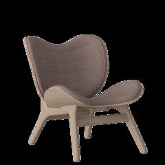 A Conversation Piece Armchair - Oak - Dusty Rose