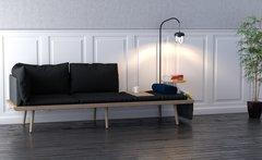Lounge Around 3 Seater Sofa Dark Oak