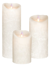 Real Wax LED Candle Bundle - White Frosted