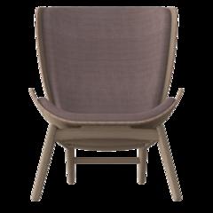 The Reader Armchair - Dark Oak - Dusty Rose