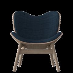 A Conversation Piece Armchair - Dark Oak - Petrol Blue