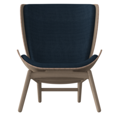 The Reader Armchair - Dark Oak - Petrol blue