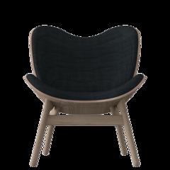 A Conversation Piece Armchair - Oak - Slate Grey