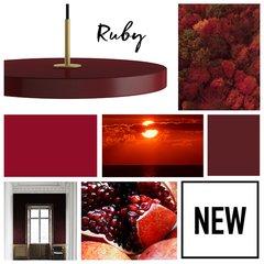 Asteria Ruby Pendant Lamp