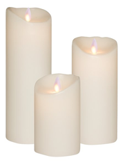 Real Wax LED Candle Bundle - Flame White