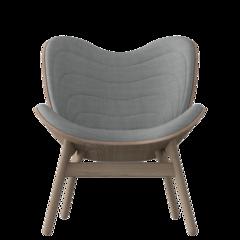 A Conversation Piece Armchair - Dark Oak - Silver Grey