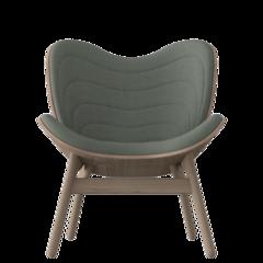A Conversation Piece Armchair - Dark Oak - Spring Green