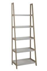 A Ladder Shelving Unit Bamboo/White