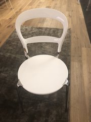White/Chrome Occasional Dining Chair