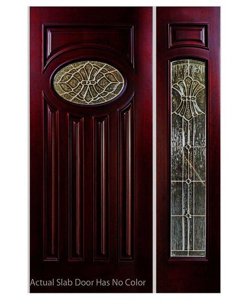 "Exterior Entry Wood Slab Door No Paint #M280E-H80"" 1d + 1s"