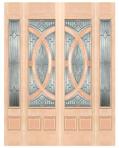 "Exterior Entry Wood Slab Door No Paint #M680-H80"" 2d + 2s"