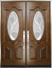 Finished wood door #M800G-DB-80