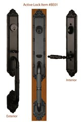 "Imperial Style Tubular Handleset 2 3/4"" Backset. Antique Door Handle. #LKE-BE0110B"