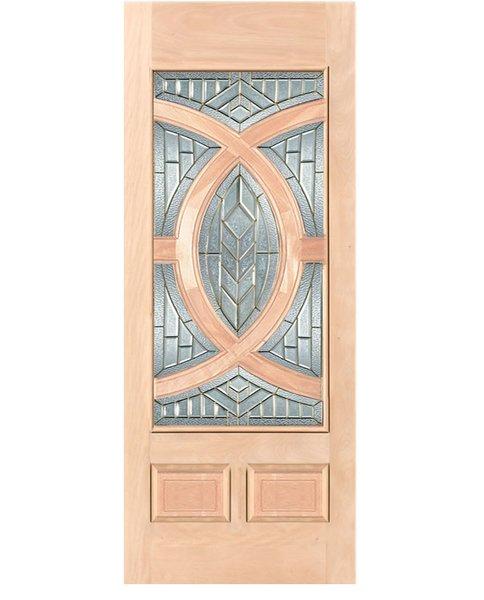 """Exterior Entry Wood Slab Door No Paint #M680-H96"""" 1 Door"""