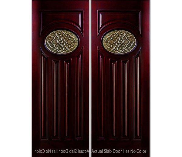 "Exterior Entry Wood Slab Door No Paint #M280E-H80"" 2d"