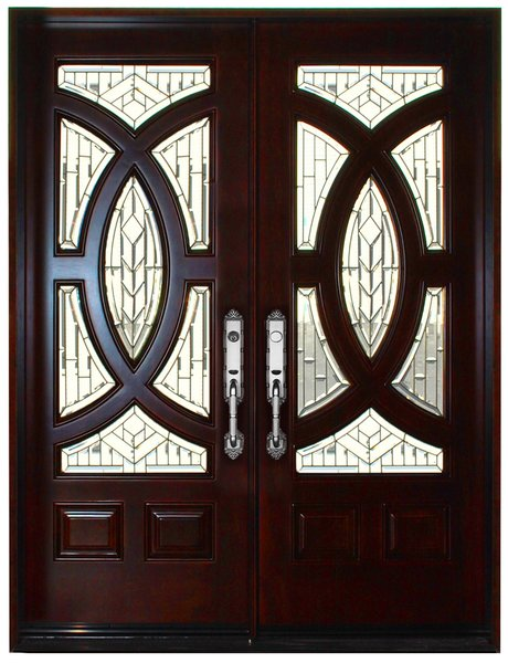 Mahogany Prefinished Solid Wood Door #680A-H80""