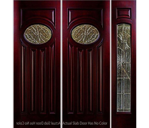 "Exterior Entry Wood Slab Door No Paint #M280E-H80"" 2d + 1s"