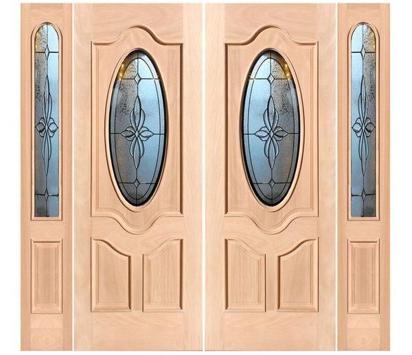 "Exterior Entry Wood Slab Door No Paint #M800-H80"" 2d + 2s"
