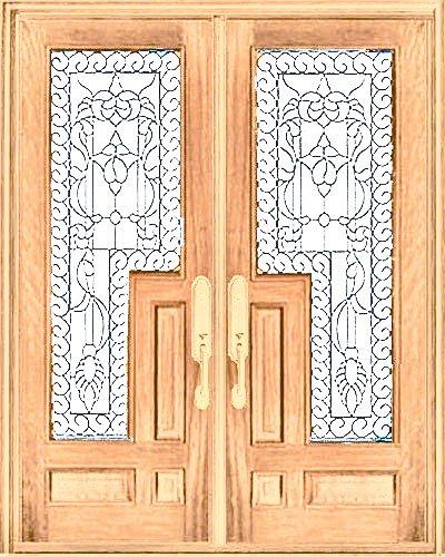 Exterior Entry Wood Slab Door #M588