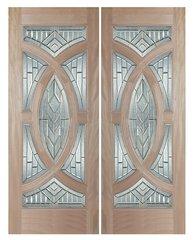 "Exterior Entry Wood Slab Door No Paint #M705- H80"" 2d"