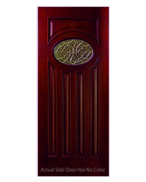 "Exterior Entry Wood Slab Door No Paint #M280E-H80"" 1d"