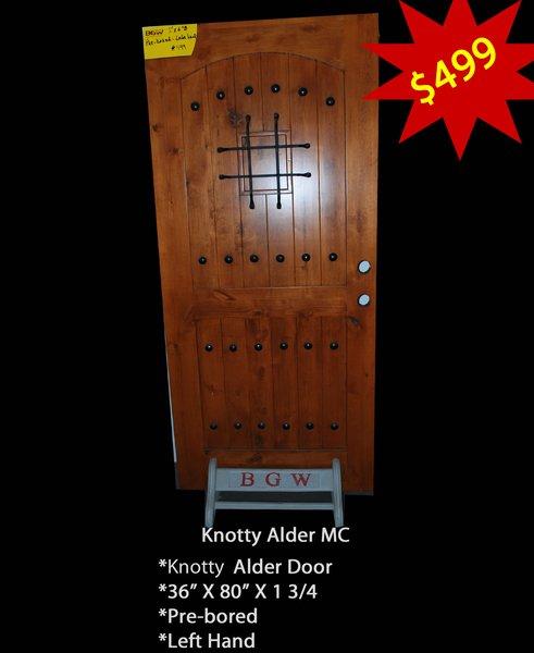 "Exterior Entry Wood Door #CLR-MC Single 36"" X 80"""