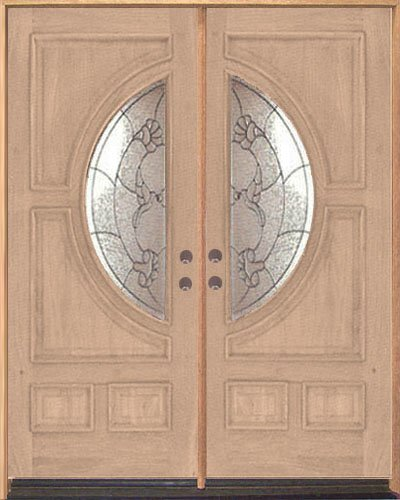 Exterior Entry Wood Door No Paint #M580