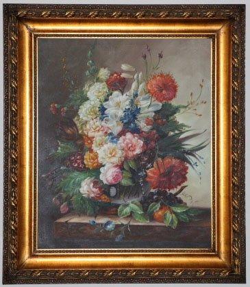 "Oil Painting Flower 30 1/2"" x 26 3/4"" x 2"""