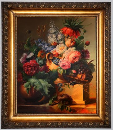 """Oil Painting Flower on the Table 30 1/2"""" x 26 3/4"""" x 2"""""""