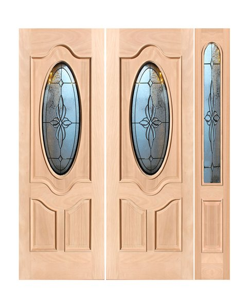 "Exterior Entry Wood Slab Door No Paint #M800-H96"" 2d + 1s"