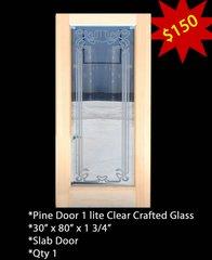"""Exterior Entry Wood Door #Pine Sigle 36"""" X 80"""""""
