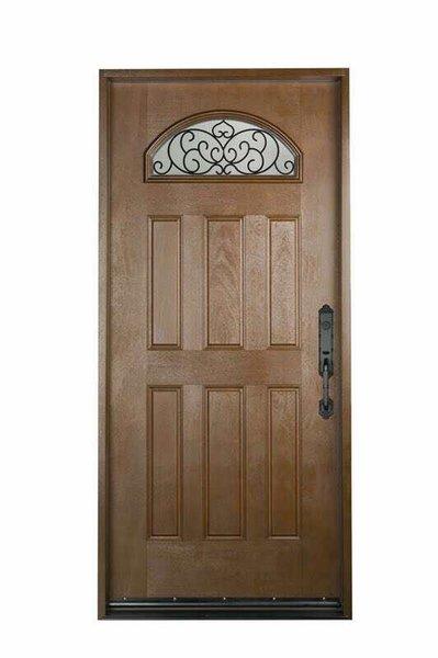 Fiberglass Door #FD-02W3680BK/MW/BG1