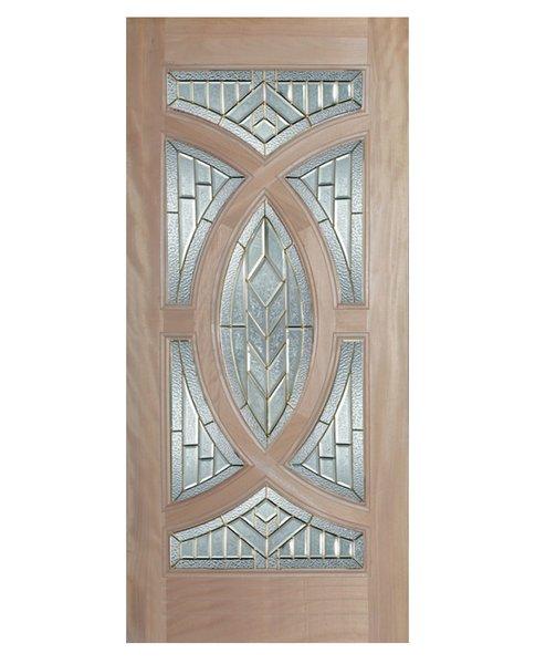 """Exterior Entry Wood Slab Door No Paint #M705-H96"""" 1 Door"""