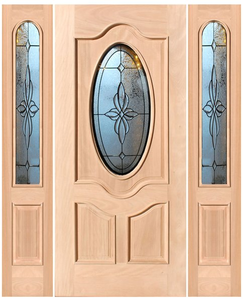 "Exterior Entry Wood Slab Door No Paint #M800- H96"" 1d + 2s"