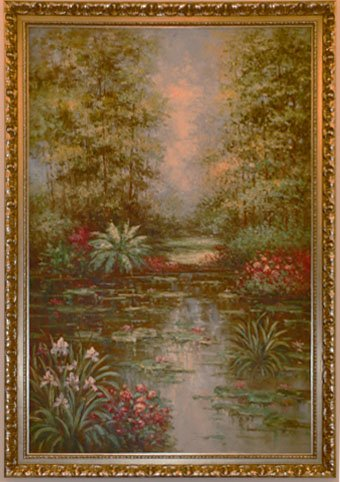 """Huge Oil Painting Flower and Tree 55"""" x 78"""" x 1 3/4"""""""