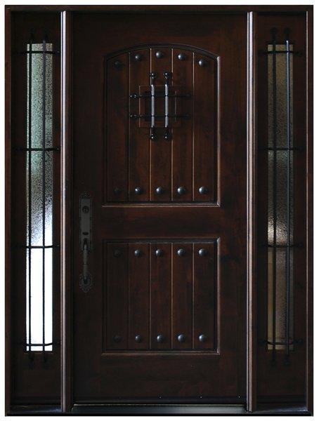 Natural Knotty Alder Distressed Prefinished Solid Wood Door #KA-MCD-1d2s80
