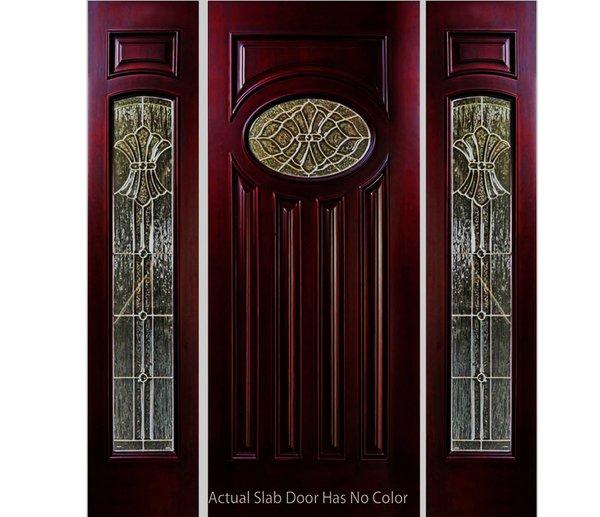 "Exterior Entry Wood Slab Door No Paint #M280E-H80"" 1d + 2s"