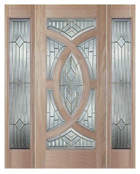 "Exterior Entry Wood Slab Door No Paint #M705- H80"" 1d + 2s"