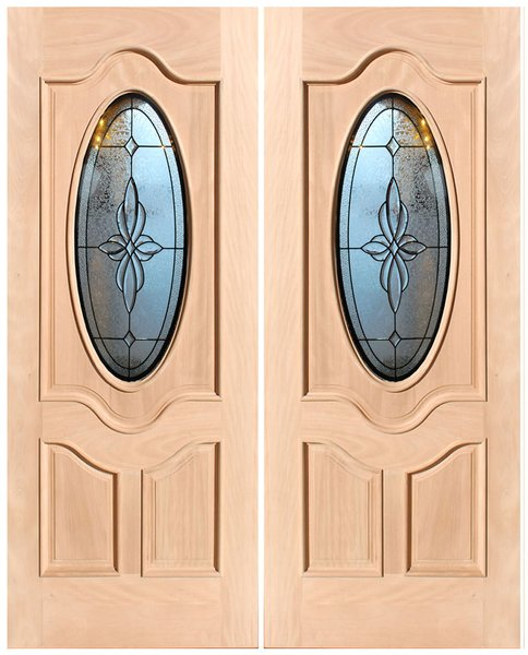 "Exterior Entry Wood Slab Door No Paint #M800- H96"" 2d"